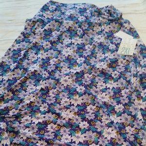 Bnwt Lularoe slinky floral 2xl maxi skirt